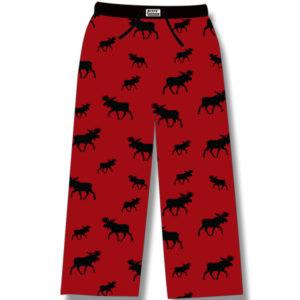 Black Moose on Red