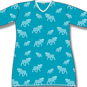White halftone Moose on Turquoise