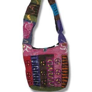 Shoulder bag 1 side print  stem ML w/Peace Sign