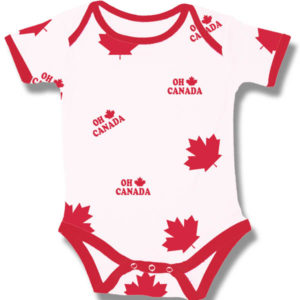 Oh Canada Maple leaf  on White