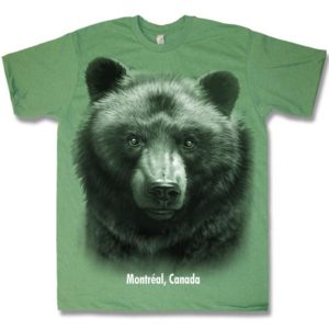 ADULT T-SHIRT HEATHER  WITH BLACK BEAR HEAD