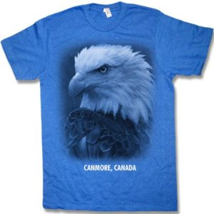ADULT HEATHER T-SHIRT EAGLE HEAD & TOWN NAME