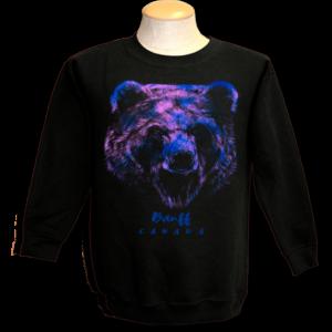 black adult sweats with rainbow bear