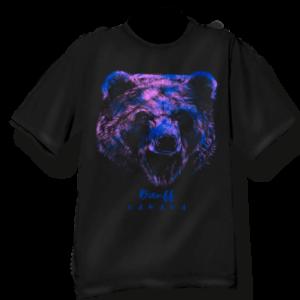 ADULT T-SHIRT WITH RAINBOW BEAR HEAD & NAME