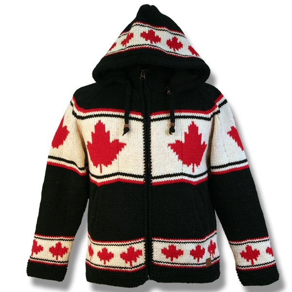 Adult Hooded jacket with Maple Leaf