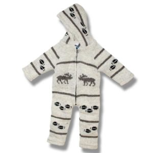 Infant wool rompers