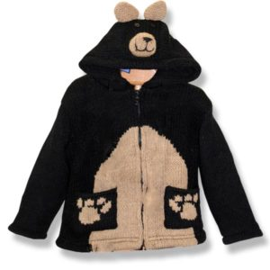 Black Bear Kids Hooded Jacket