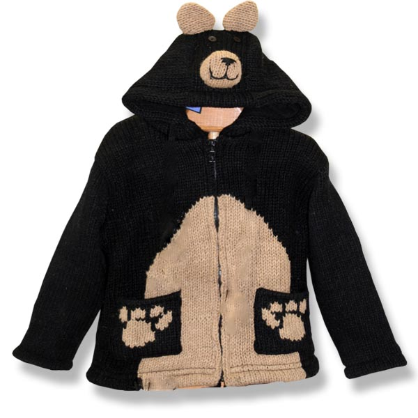 Black Bear Kids Hooded Jacket
