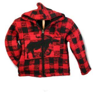 Buffalo wool hooded jacket