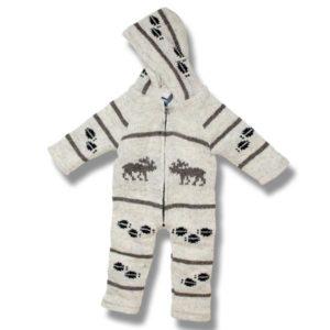 Infant Moose wool Rompers