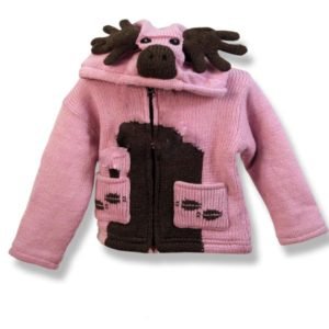 Pink moose kids hooded jacket