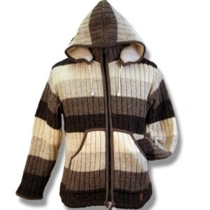 Adult Rib jacket w/zip hood