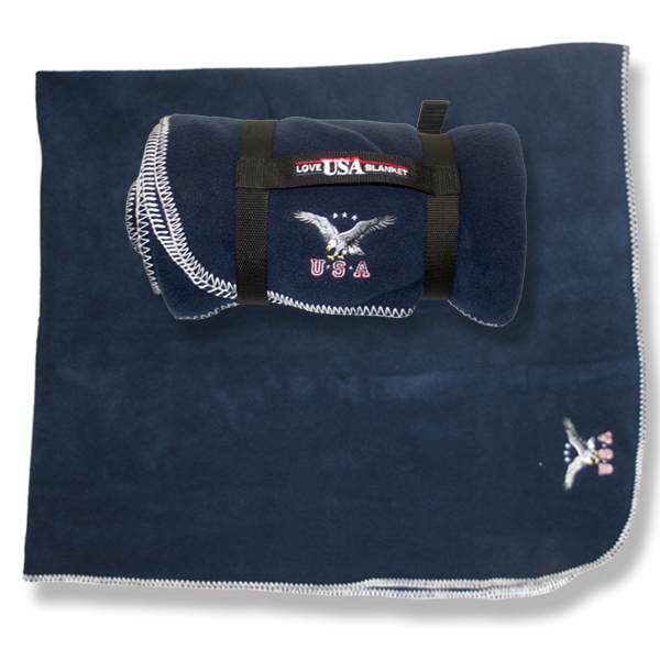 Polar Fleece blanket USA Eagle