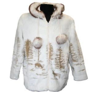Adult Deer Funfur Hooded Jacket