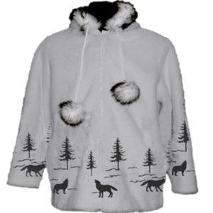 Adult Wolf Funfur Hooded Jacket