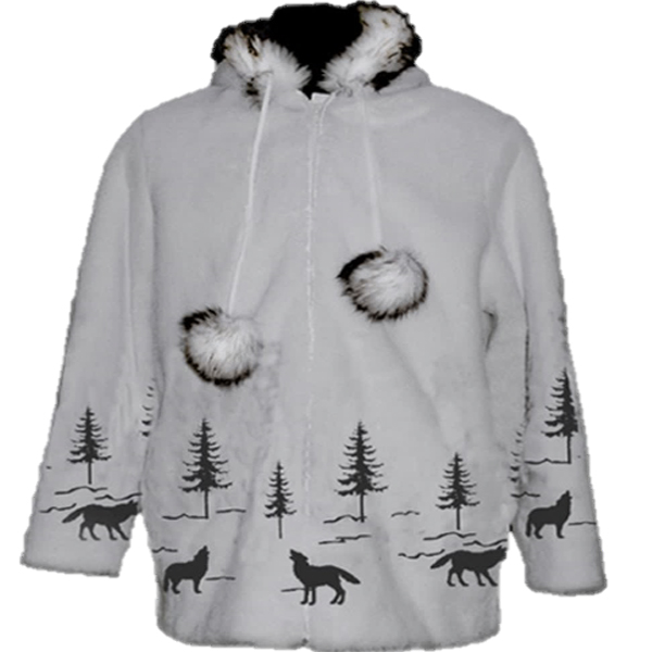 Adult Wolf Funfur Hooded Jacket
