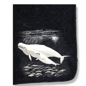 Microfiber blanket with Beluga