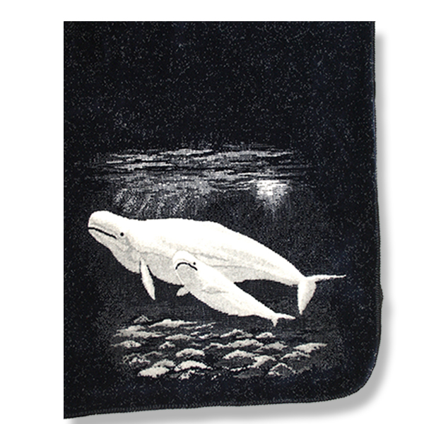 Microfiber blanket with Beluga