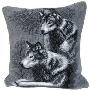 "Wolf Microfiber Pillow 18""X18"""