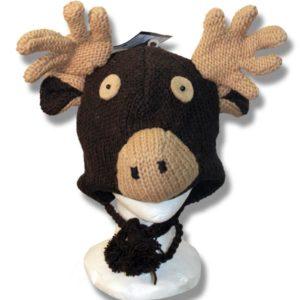 Chocolate moose head Tuque