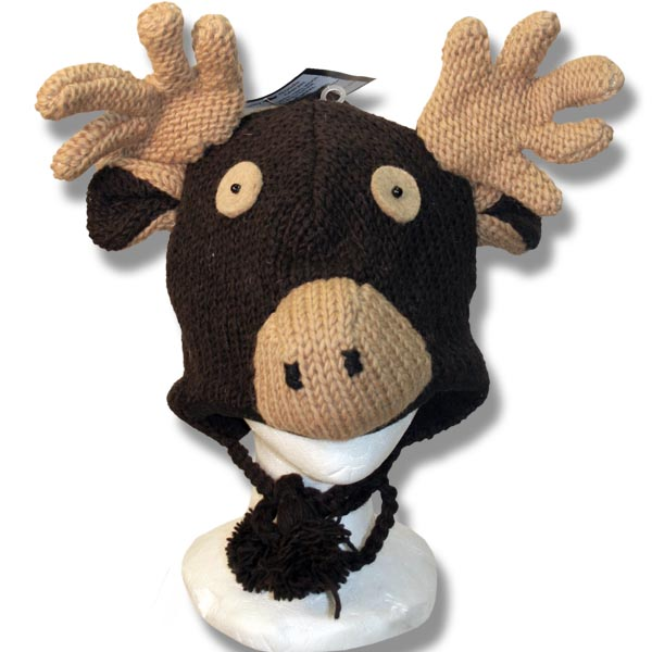 Chocolate moose head Tuque