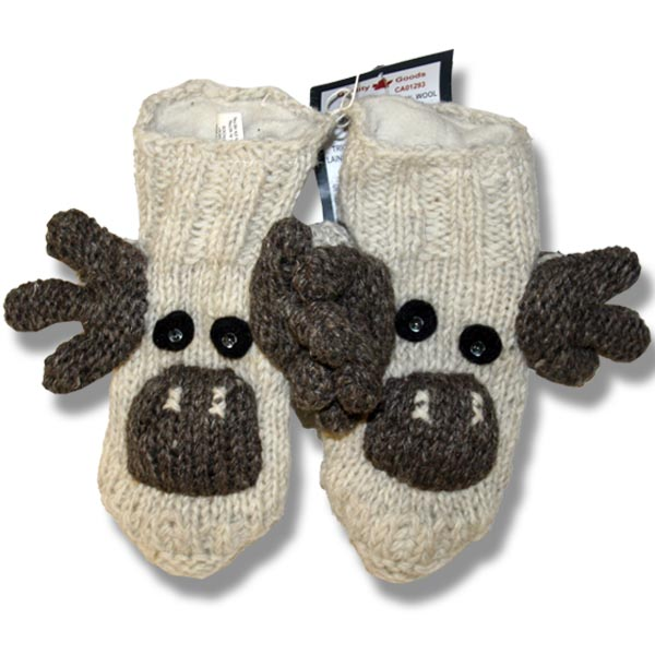 Adult animal booties moose brown