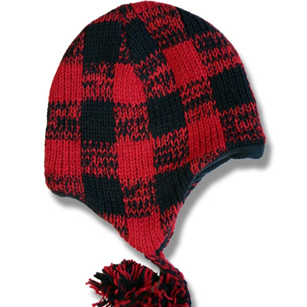 Adult toque with Buffalo Check Patt