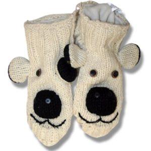 Kids polar bear booties