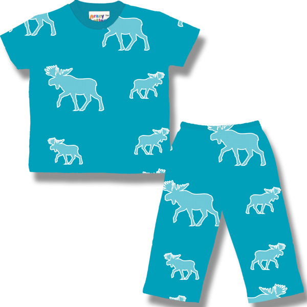 White Halftone Moose on turquoise