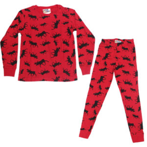 Silhouette Moose on Red long-sleeve