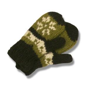Kid woolen mitten