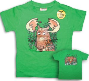 KIDS FLOPPY MOOSE T-SHIRT FRONT/BACK PRINT