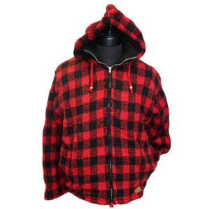 Adult Buffalo Check Hooded Jacket (NO MOOSE)