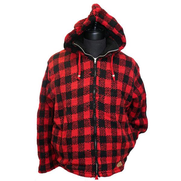 Adult Buffalo Check Hooded Jacket (NO MOOSE)