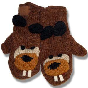 Beaver Kids Woolen Mittens