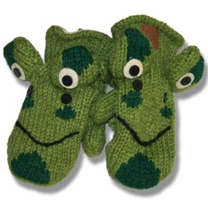 Frog Kids Woolen Mittens