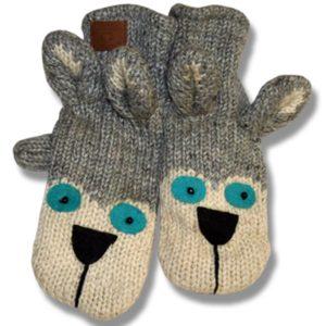 husky # 1 Adult Woolen Mittens