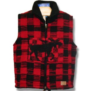 Adult Woolen vest Lined Moose Pat