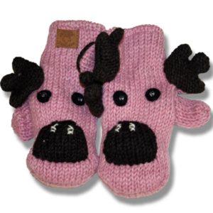 Pink moose Kids Woolen Mittens