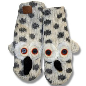 Snow Owl Kids Woolen Mittens