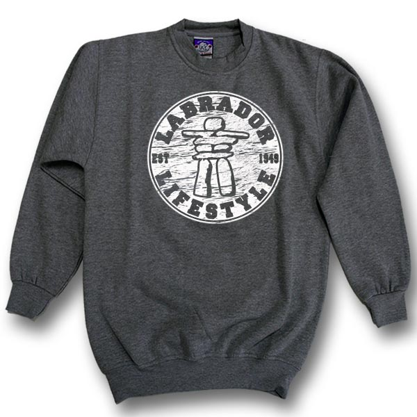 ADULTE CREWNECK SWEAT WITH INUKSHUK LIFESTYLE