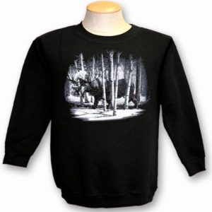 ADULT CREWNECK SWEAT WITH QUADRATONE MOOSE & TOWN NAME