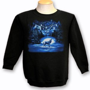ADULT CREWNECK SWEAT WITH DREAMCATCHER / WOLF TOWN NAME