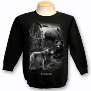 ADULT CREWNECK SWEAT WITH QUADRATONE WILDLIFE & TOWN NAME