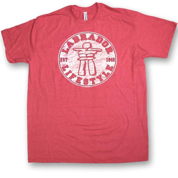 ADULT T-SHIRTS HEATHER WITH INUKSHUK LIFESTYLE
