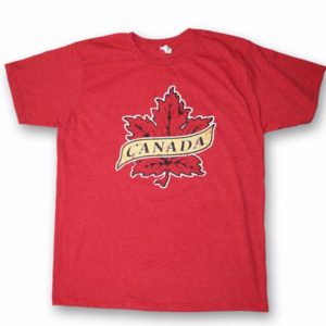 YOUTH T-SHIRT WITH MAPLE LEAF DESIGNS & TOWN NAME