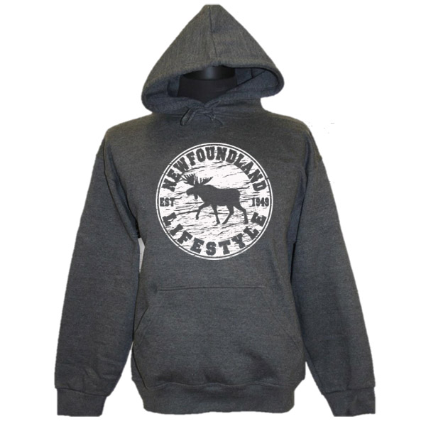 ADULT HOOD WITH MOOSE LIFESTYLE & TOWN NAME