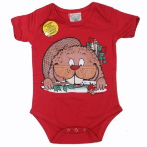 INFANT ONESIE BEAVER & TOWN NAME