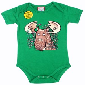 INFANT ONESIE MOOSE & TOWN NAME