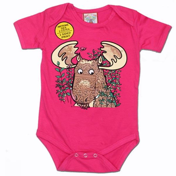 INFANT ONESIE MOOSE & TOWN NAME